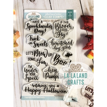 La-La Land Crafts Clear Stamps TRICK OR SWEETS CL013