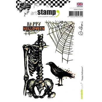 Carabelle Studio HAPPY HALLOWEEN Cling Stamp sa60389e