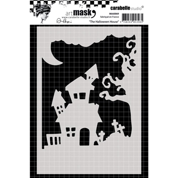Carabelle Studio THE HALLOWEEN HOUSE Mask Stencil ma60069