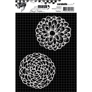 Carabelle Studio FANCIFUL DAHLIAS Mask Stencil ma60070