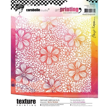 Carabelle Studio FLOWERY BACKGROUND Art Printing Texture Plate Square apca60021