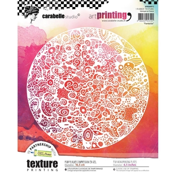 Carabelle Studio FANTAISIE Art Printing Texture Plate Round apro60012