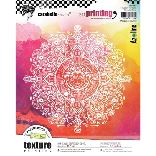 Carabelle Studio MASQUE AU SOURIRE Art Printing Texture Plate Round apro60016 Preview Image