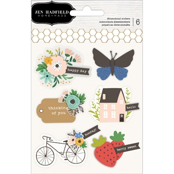 Pebbles Inc. Jen Hadfield LAYERED STICKERS Along the Way 733976