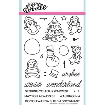 Heffy Doodle WANNA BUILD A SNOWMAN Clear Stamps hfd0087