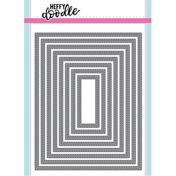 Heffy Doodle IMPERIAL STITCHED RECTANGLES Dies hfd0098