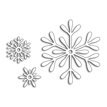 Penny Black 3 SNOWFLAKES Thin Metal Creative Dies 51-455