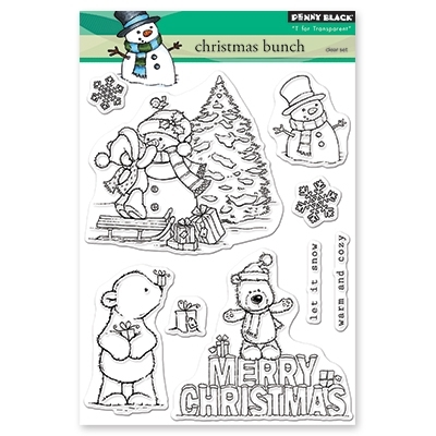 Penny Black Clear Stamps CHRISTMAS BUNCH 30-520 zoom image