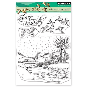 Penny Black Clear Stamps WINTER DAYS 30-517