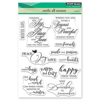 Penny Black Clear Stamps SMILE ALL SEASON 30-516
