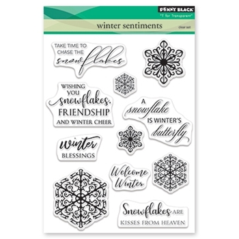 Penny Black Clear Stamps WINTER SENTIMENTS 30-513