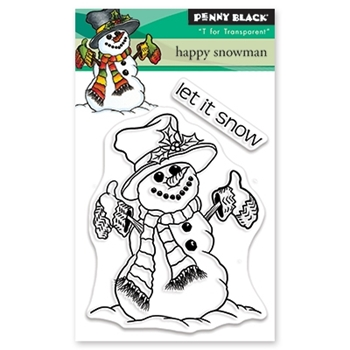 Penny Black Clear Stamps HAPPY SNOWMAN 30-503