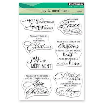 Penny Black Clear Stamps JOY AND MERRIMENT 30-501