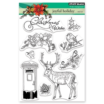 Penny Black Clear Stamps JOYFUL HOLIDAY 30-497