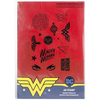 Character World DC Comics Wonder Woman A6 Clear Stamps DUS4119