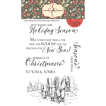 Colorado Craft Company Lovely Legs HOLIDAY TREE Clear Stamps LL218