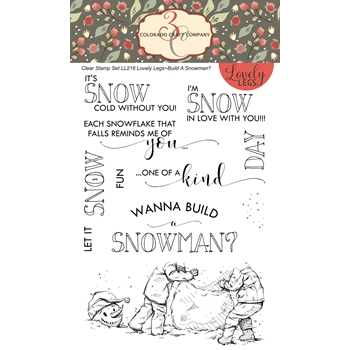 Colorado Craft Company Lovely Legs BUILD A SNOWMAN Clear Stamps LL216