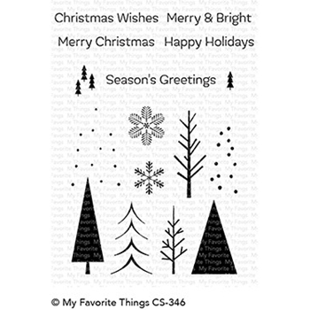 My Favorite Things TRIO OF TREES Clear Stamps CS346