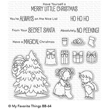 My Favorite Things SECRET SANTA Clear Stamps BB64