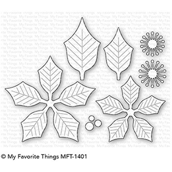 My Favorite Things PERFECT POINSETTIA Die-Namics MFT1401