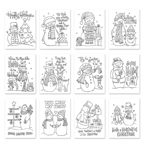 Simon Says Stamp Suzy's SNOWMEN Watercolor Prints szwcs10 Fun and Festive Preview Image