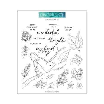 Concord & 9th SONGBIRD Clear Stamp Set 10479