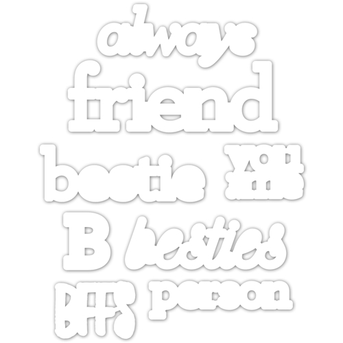 CZ Design Wafer Dies BESTIE czd43 Fun and Festive Preview Image
