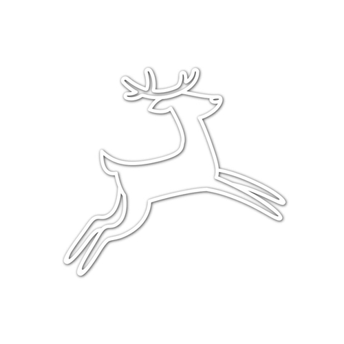 RESERVEDANCING DEER Wafer Die sssd111835 Fun and Festive