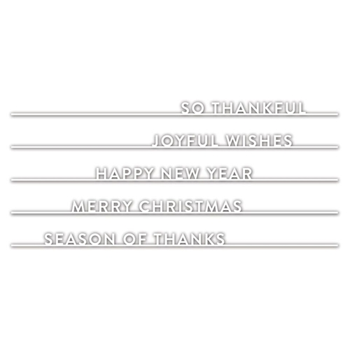 Simon Says Stamp HOLIDAY WORDS ON A LINE Wafer Dies sssd111880 Fun and Festive Preview Image