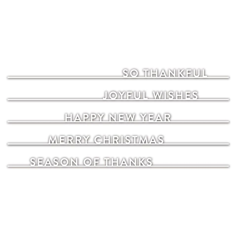 Simon Says Stamp HOLIDAY WORDS ON A LINE Wafer Dies sssd111880 Fun and Festive zoom image