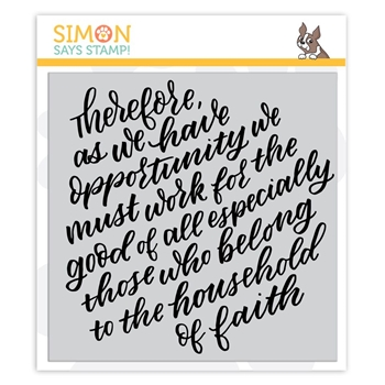 Simon Says Cling Rubber Stamp THEREFORE sss101942 Fun and Festive