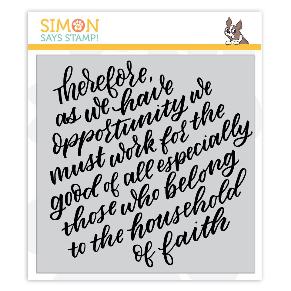 Simon Says Cling Rubber Stamp THEREFORE sss101942 Fun and Festive zoom image