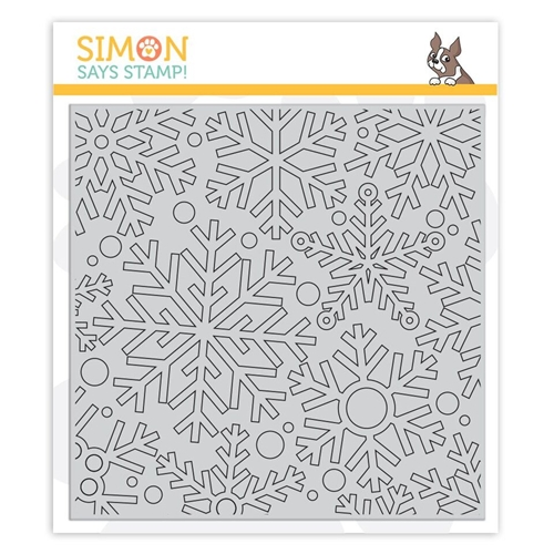 Simon Says Cling Rubber Stamp OUTLINE SNOWFLAKES sss101889 Fun and Festive Preview Image