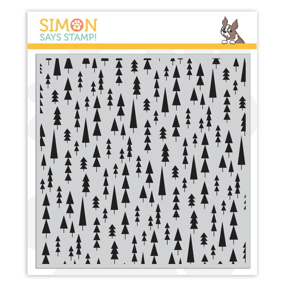 Simon Says Cling Rubber Stamp MOD TREES BACKGROUND sss101892 Fun and Festive zoom image