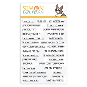 Simon Says Clear Stamps PUNNY ANIMALS sss101932 Fun and Festive