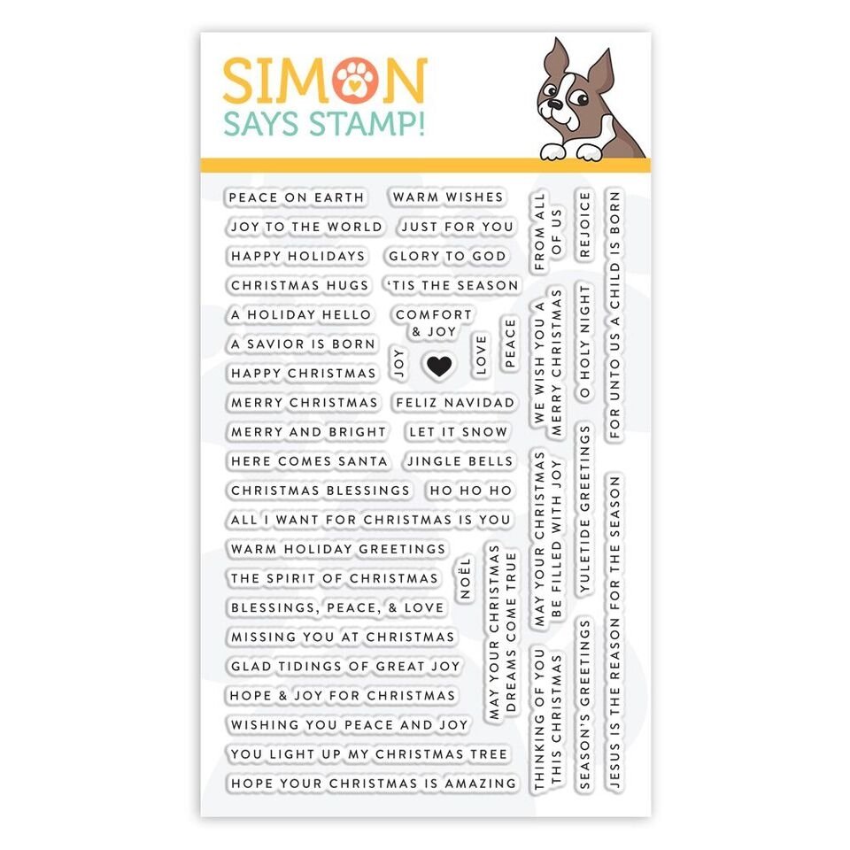 Simon Says Clear Stamps TINY WORDS CHRISTMAS sss101893 Fun and Festive zoom image