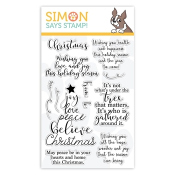 RESERVE Simon Says Clear Stamps CHRISTMAS WISHES sss101888 Fun and Festive