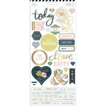 Heidi Swapp EMERSON LANE Cardstock Stickers 314504