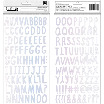 Crate Paper HOORAY Alphabet Thickers Stickers 344580