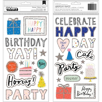 Crate Paper HOORAY Thickers Stickers 344581