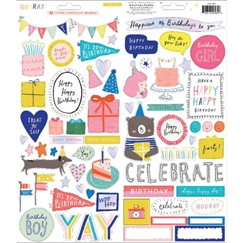 Crate Paper HOORAY 6 x 12 Stickers 344584