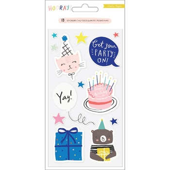 Crate Paper HOORAY Puffy Stickers 344585