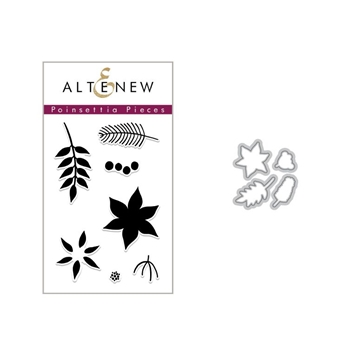 Altenew POINSETTIA PIECES Clear Stamp and Die Set ALT2697