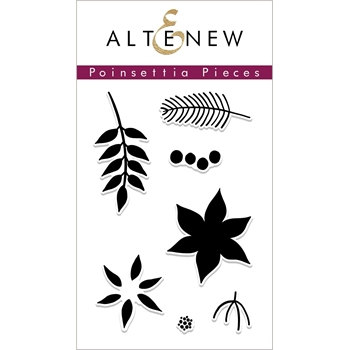 Altenew POINSETTIA PIECES Clear Stamps ALT2695