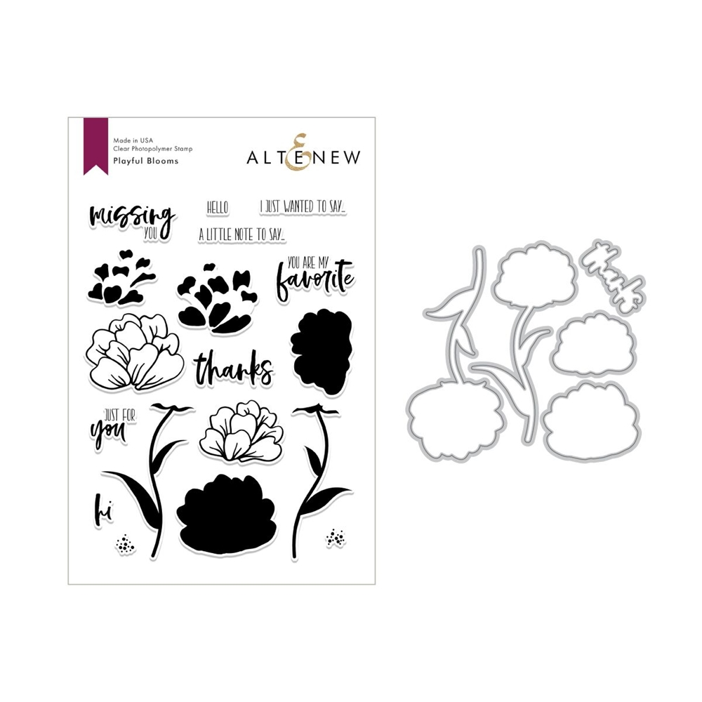 Altenew PLAYFUL BLOOMS Clear Stamp and Die Set ALT2694  zoom image