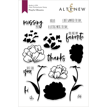Altenew PLAYFUL BLOOMS Clear Stamps ALT2692