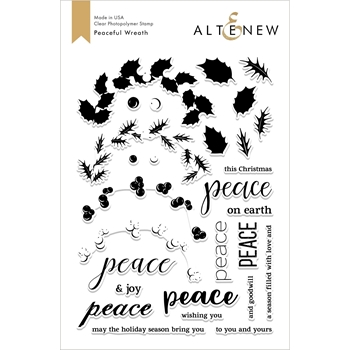 Altenew PEACEFUL WREATH Clear Stamps ALT2689