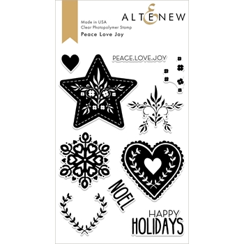 Altenew PEACE LOVE JOY Clear Stamps ALT2686