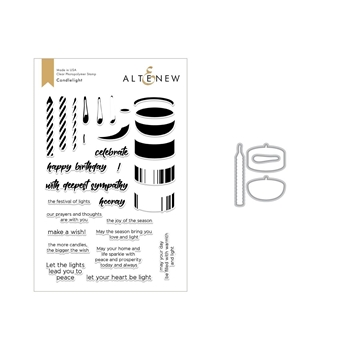Altenew CANDLELIGHT Clear Stamp and Die Set ALT2684
