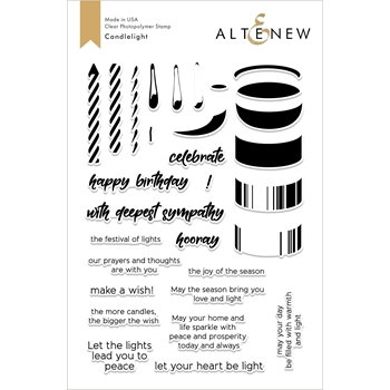 Altenew CANDLELIGHT Clear Stamps ALT2682